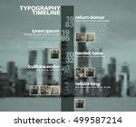 vector infographic typographic... | Shutterstock .eps vector #499587214