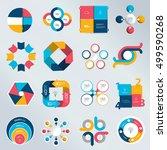 mega set of business concept... | Shutterstock .eps vector #499590268