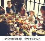 thanksgiving celebration... | Shutterstock . vector #499593424