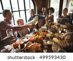 thanksgiving celebration... | Shutterstock . vector #499593430