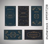 set of vintage luxury greeting... | Shutterstock .eps vector #499597258
