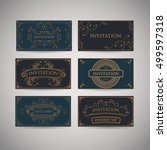 set of vintage luxury greeting... | Shutterstock .eps vector #499597318
