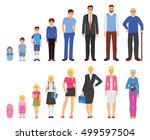 people aging process from baby... | Shutterstock .eps vector #499597504