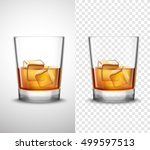 scotch whisky glasses set with... | Shutterstock .eps vector #499597513
