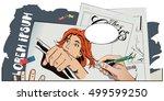 stock illustration. people in... | Shutterstock .eps vector #499599250