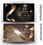 vip invitation banners with... | Shutterstock .eps vector #499600060