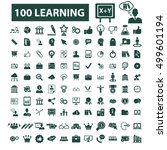 learning icons  | Shutterstock .eps vector #499601194