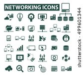 networking icons  | Shutterstock .eps vector #499601344
