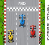 race finish top view background ... | Shutterstock .eps vector #499602013