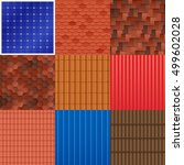 House Roof Tile Set With...