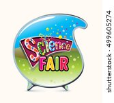 science fair emblem. kids... | Shutterstock .eps vector #499605274