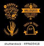 happy halloween design... | Shutterstock .eps vector #499605418