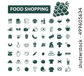 food shopping icons   Shutterstock .eps vector #499605634