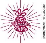 merry christmas lettering....   Shutterstock .eps vector #499607080