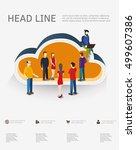 isometric concept for cloud... | Shutterstock .eps vector #499607386