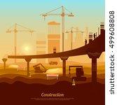 bridge construction... | Shutterstock .eps vector #499608808