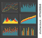 graph and chart template set.... | Shutterstock .eps vector #499608868