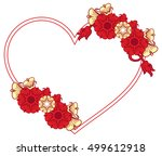 heart shaped frame with... | Shutterstock .eps vector #499612918