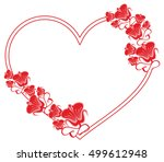 heart shaped frame with... | Shutterstock .eps vector #499612948