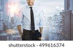 double exposure image of a... | Shutterstock . vector #499616374
