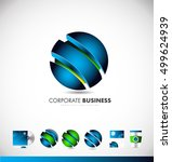 3d corporate sphere abstract... | Shutterstock .eps vector #499624939