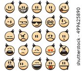 emoji collection | Shutterstock .eps vector #499625890