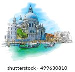 venice   cathedral of santa... | Shutterstock . vector #499630810