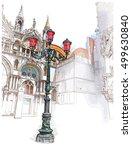 venice. italy. lantern on st.... | Shutterstock . vector #499630840