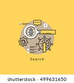 search engine optimization flat ... | Shutterstock .eps vector #499631650