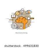 brainstorming and analysis flat ... | Shutterstock .eps vector #499631830
