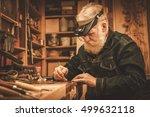 senior restorer working with...   Shutterstock . vector #499632118