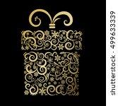 stylized gift box   vector...   Shutterstock .eps vector #499633339