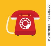 retro styled telephone | Shutterstock .eps vector #499636120