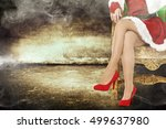 woman legs and interior of... | Shutterstock . vector #499637980