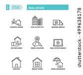 flat symbols about real estate. ... | Shutterstock .eps vector #499638178