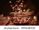 delicious and healthy cereal in ... | Shutterstock . vector #499638520