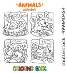coloring book or coloring... | Shutterstock .eps vector #499640434