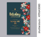 christmas party invitation with ... | Shutterstock .eps vector #499643080