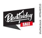 vector illustration  sale label ... | Shutterstock .eps vector #499648510