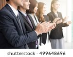 Small photo of Business people clapping their hands in the meeting, congratulation and appreciation concepts