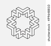 impossible shape  star shape.... | Shutterstock .eps vector #499648810