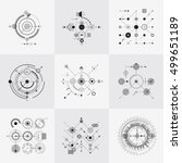 scientific bauhaus technology... | Shutterstock .eps vector #499651189