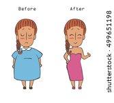 women weight loss success.fat... | Shutterstock .eps vector #499651198