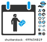 postman calendar day icon with...