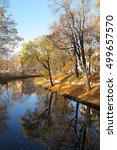 autumnal park in riga  latvia | Shutterstock . vector #499657570