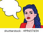 pop art comics background. sad... | Shutterstock .eps vector #499657654