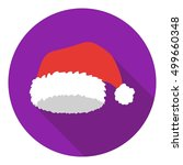 christmas cap icon in flat... | Shutterstock .eps vector #499660348