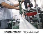 manual worker doing his job on... | Shutterstock . vector #499661860