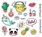 fashion vector patch badges... | Shutterstock .eps vector #499662838