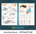 two sided business brochure or... | Shutterstock .eps vector #499663768